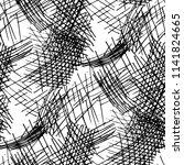 various pen hatches. seamless... | Shutterstock .eps vector #1141824665