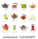 tea vector puer tea and rooibos ... | Shutterstock .eps vector #1141824875