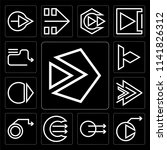 set of 13 simple editable icons ... | Shutterstock .eps vector #1141826312