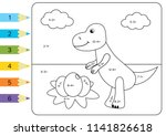 educational coloring page for... | Shutterstock .eps vector #1141826618