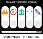 5 vector icons such as group of ...   Shutterstock .eps vector #1141828202