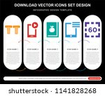 5 vector icons such as greek... | Shutterstock .eps vector #1141828268