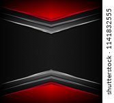 black and red metal background. ... | Shutterstock .eps vector #1141832555