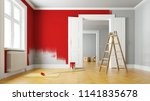 red paint wall during... | Shutterstock . vector #1141835678