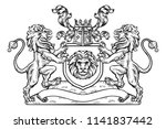 heraldic coat of arms crest... | Shutterstock .eps vector #1141837442