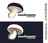 mushroom farm logo design | Shutterstock .eps vector #1141838948