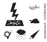 different weather black icons... | Shutterstock .eps vector #1141841462