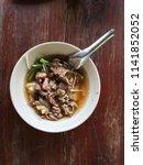 local beef noodle in my... | Shutterstock . vector #1141852052