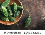 wild bitter gourd  bitter... | Shutterstock . vector #1141853282