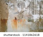 rusty stains on old concrete... | Shutterstock . vector #1141862618