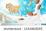 realistic advertising 3d... | Shutterstock .eps vector #1141863035