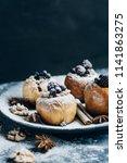 fruit dessert baked  apples... | Shutterstock . vector #1141863275