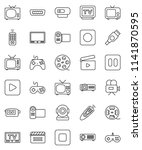 thin line vector icon set  ... | Shutterstock .eps vector #1141870595