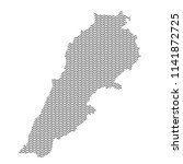 lebanon map country abstract... | Shutterstock .eps vector #1141872725