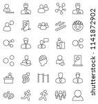 thin line vector icon set  ... | Shutterstock .eps vector #1141872902