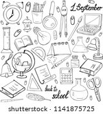 day of knowledge. a set of ... | Shutterstock .eps vector #1141875725