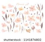 elegant abstract watercolor... | Shutterstock . vector #1141876802