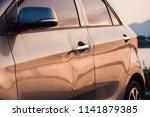 close up of dented car. | Shutterstock . vector #1141879385