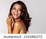 portrait of smiling african... | Shutterstock . vector #1141882172