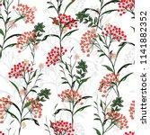 seamless vector autumn pattern... | Shutterstock .eps vector #1141882352