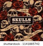 vintage seamless background... | Shutterstock .eps vector #1141885742