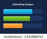 set of three game resource bar...   Shutterstock .eps vector #1141886912