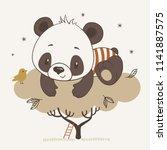 vector illustration of a cute...   Shutterstock .eps vector #1141887575