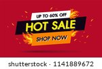hot sale fire burn template... | Shutterstock .eps vector #1141889672