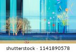 abstract colorful oil painting... | Shutterstock . vector #1141890578