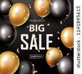 sale banner with black and... | Shutterstock .eps vector #1141895615
