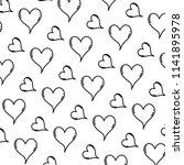 line cute heart love symbol... | Shutterstock .eps vector #1141895978