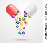 vitamin complex pharmaceutical... | Shutterstock . vector #1141898342