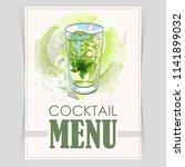 vector flyer  cover menu | Shutterstock .eps vector #1141899032