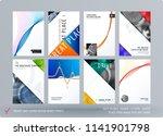 brochure design soft template....   Shutterstock .eps vector #1141901798