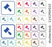 judge hammer color flat icons... | Shutterstock .eps vector #1141904315