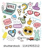 set of design element and icon... | Shutterstock . vector #1141905212