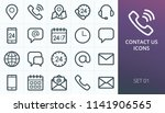 contact us icons set. set of...
