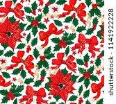 christmas vintage seamless...   Shutterstock .eps vector #1141922228
