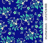 floral seamless pattern with... | Shutterstock .eps vector #1141926488