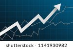 abstract financial chart with... | Shutterstock .eps vector #1141930982