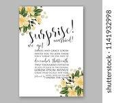 wedding invitation or bridal... | Shutterstock .eps vector #1141932998