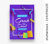 grab the deal sale template or... | Shutterstock .eps vector #1141934135