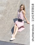 wonderful  beautiful girl on a... | Shutterstock . vector #1141935818