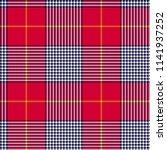glen or houndstooth plaid... | Shutterstock .eps vector #1141937252