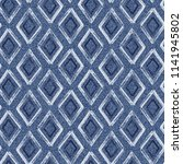 jeans background with rhombus... | Shutterstock . vector #1141945802