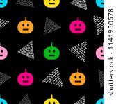 seamless pattern with colorful...   Shutterstock .eps vector #1141950578