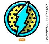 vector lightning bolt flash.... | Shutterstock .eps vector #1141961225