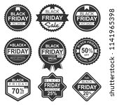 set vector black friday sale... | Shutterstock .eps vector #1141965398