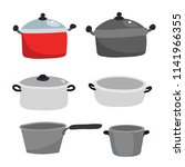 utensils vector collection... | Shutterstock .eps vector #1141966355