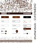 dark brown vector web ui kit...